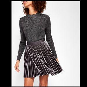 NWT Ted Baker London Velvet Pleated Skirt